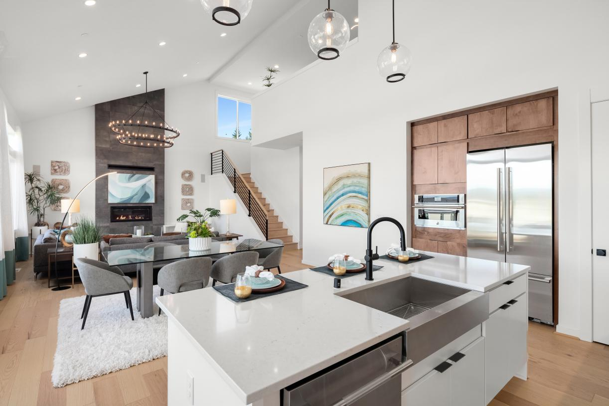 Open-concept floor plan is ideal for entertaining