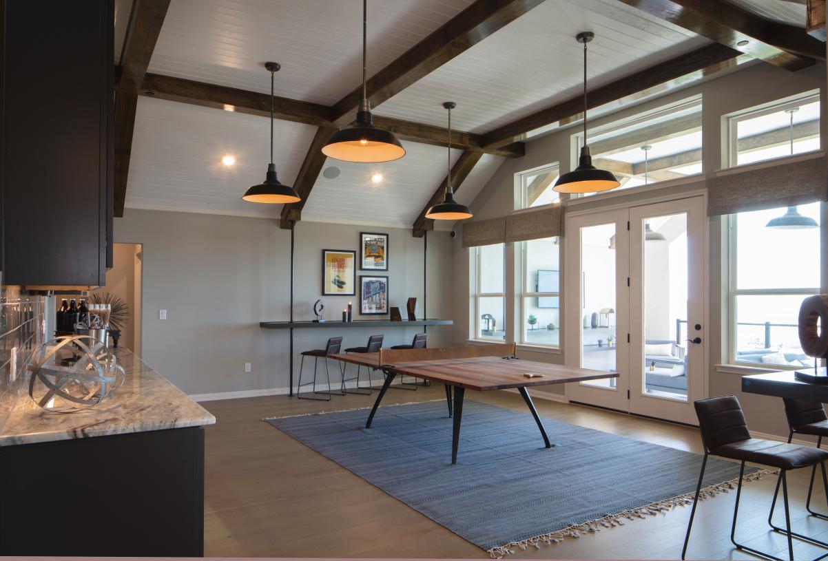 Vanguard flex room on the second floor provides a versatile space