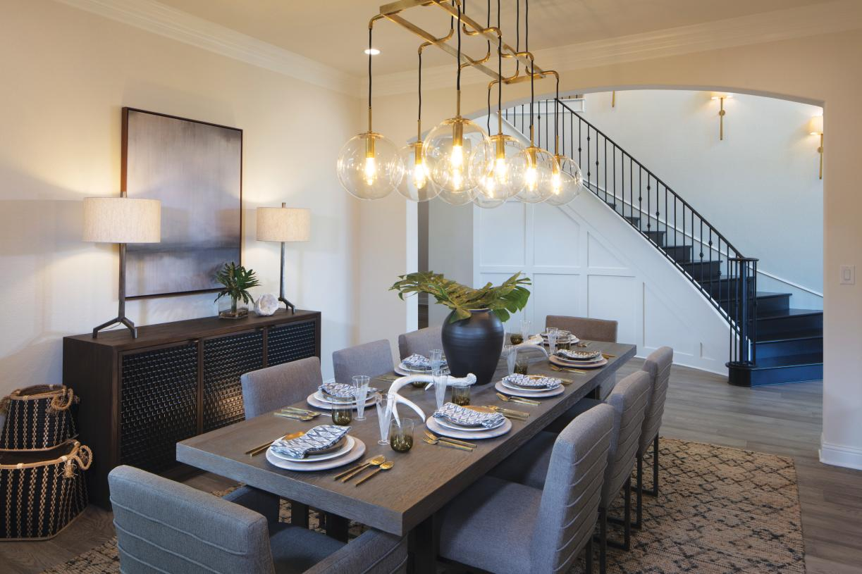 Spacious dining room with ample room for seating