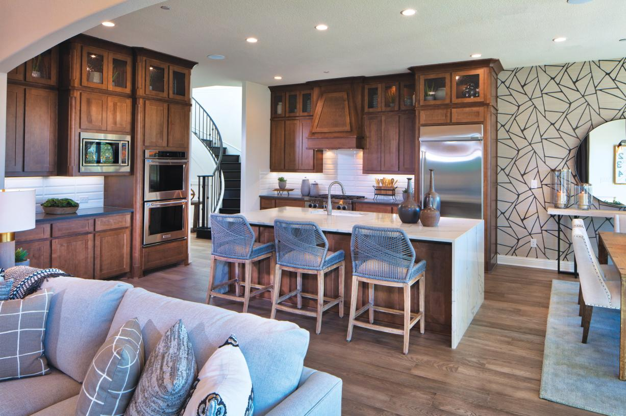 Ample cabinet space in the Vallagio kitchen