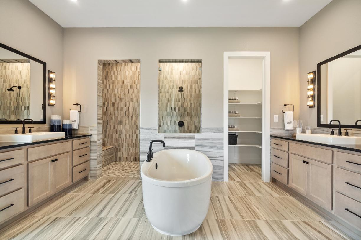 Primary bath provides a tranquil retreat