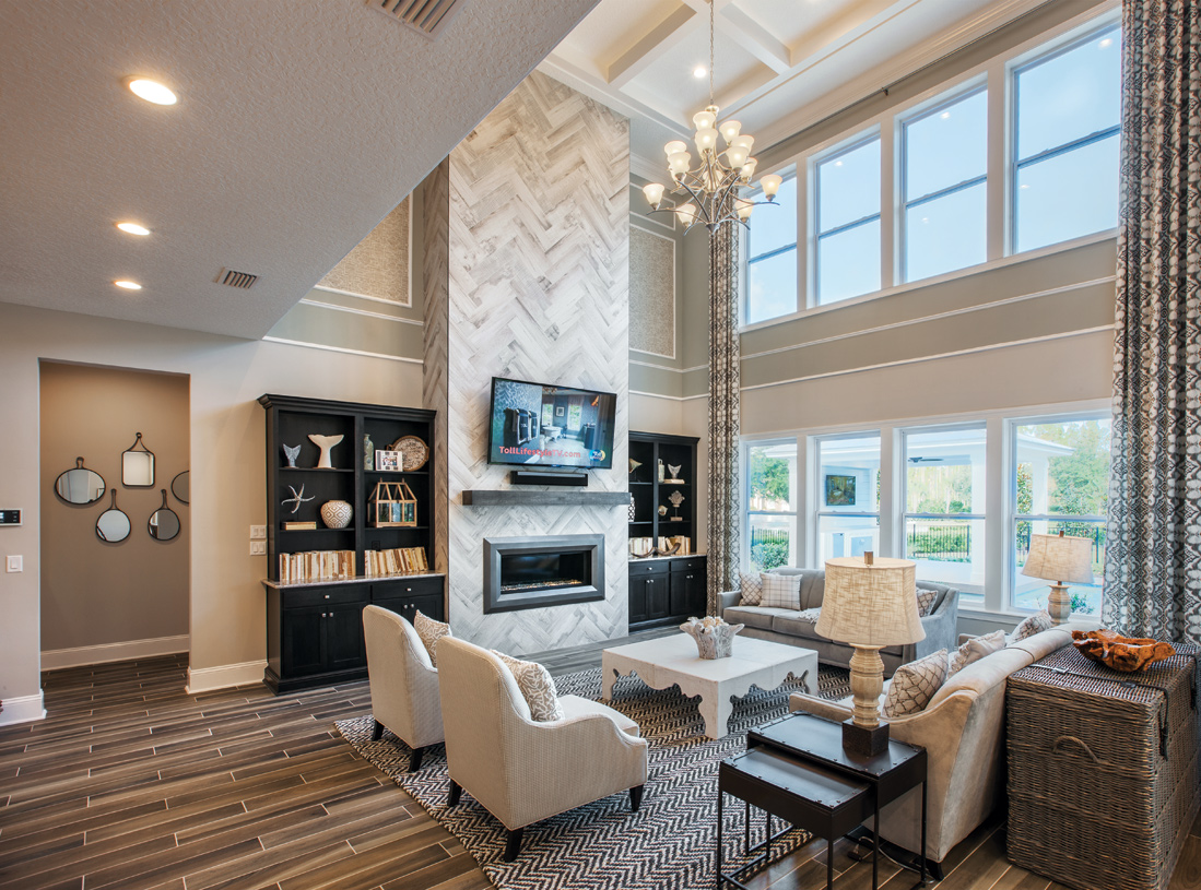 Great rooms with high ceilings