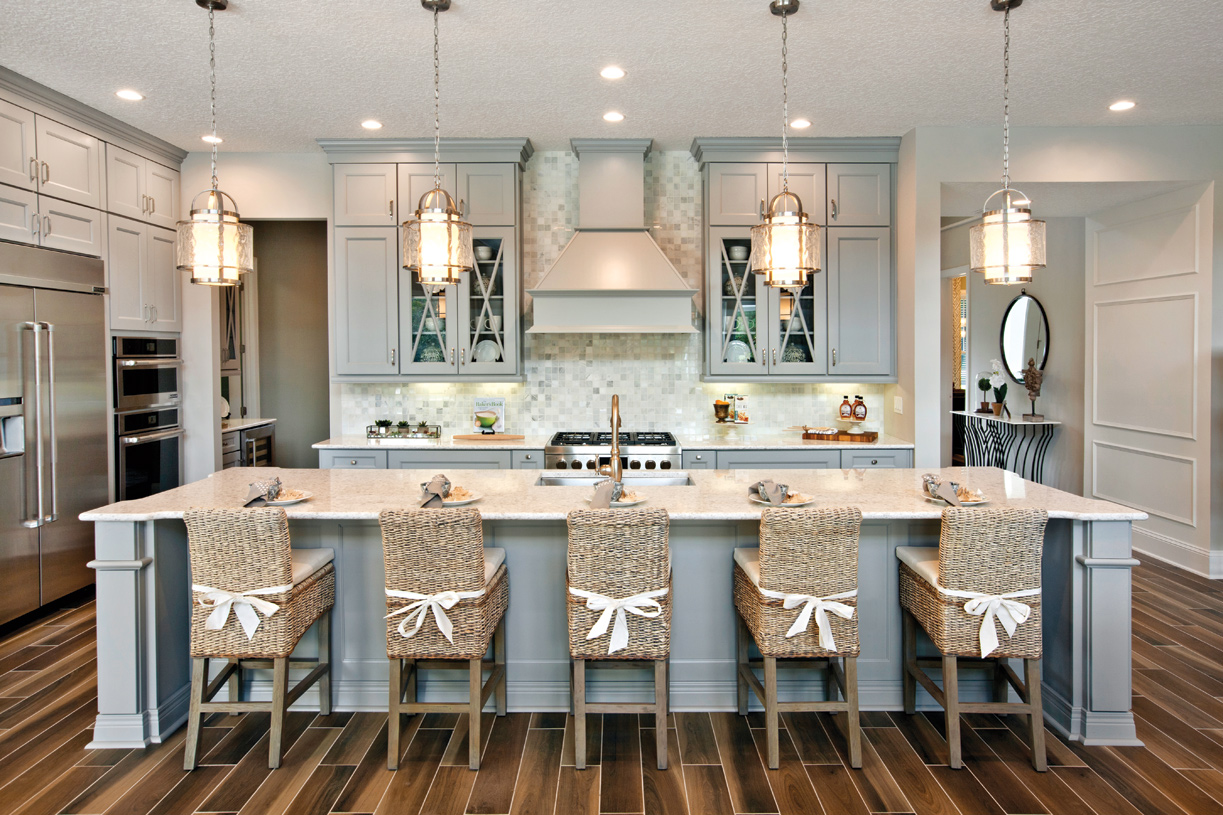 Gourmet kitchens with ample storage