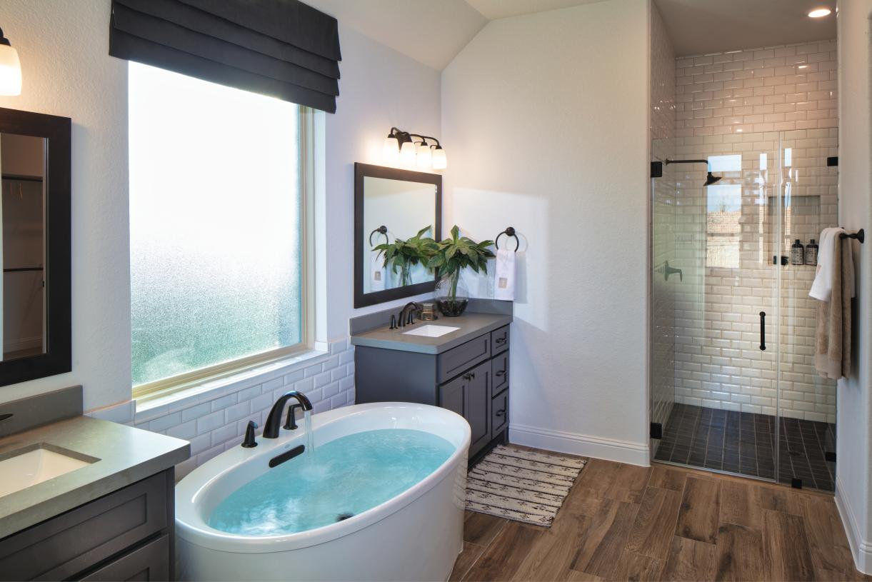 Spa-like primary baths