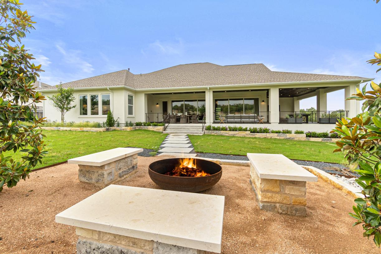 Optional wraparound covered patio for more room to relax outdoors