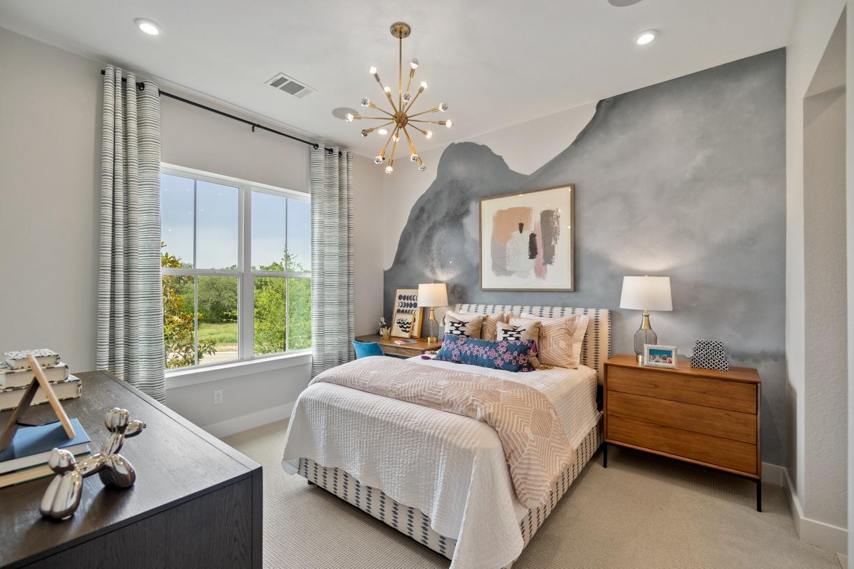 Secondary bedrooms come with large walk-in closets