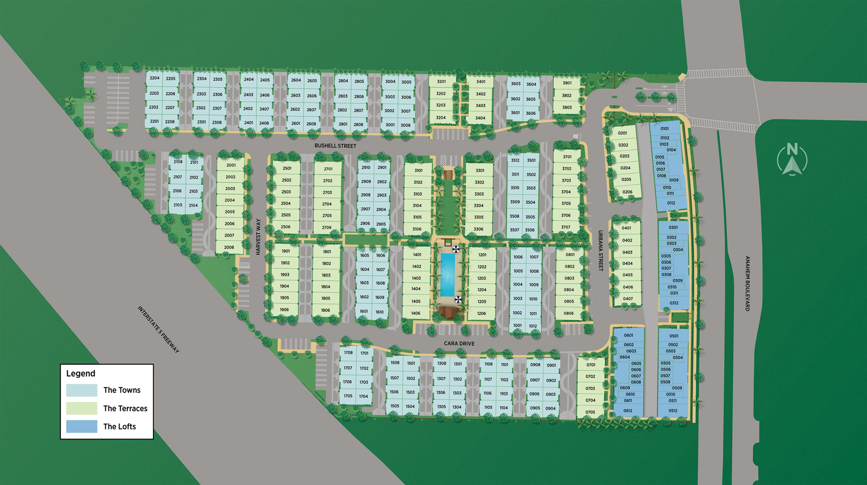 100 West Overall Site Plan