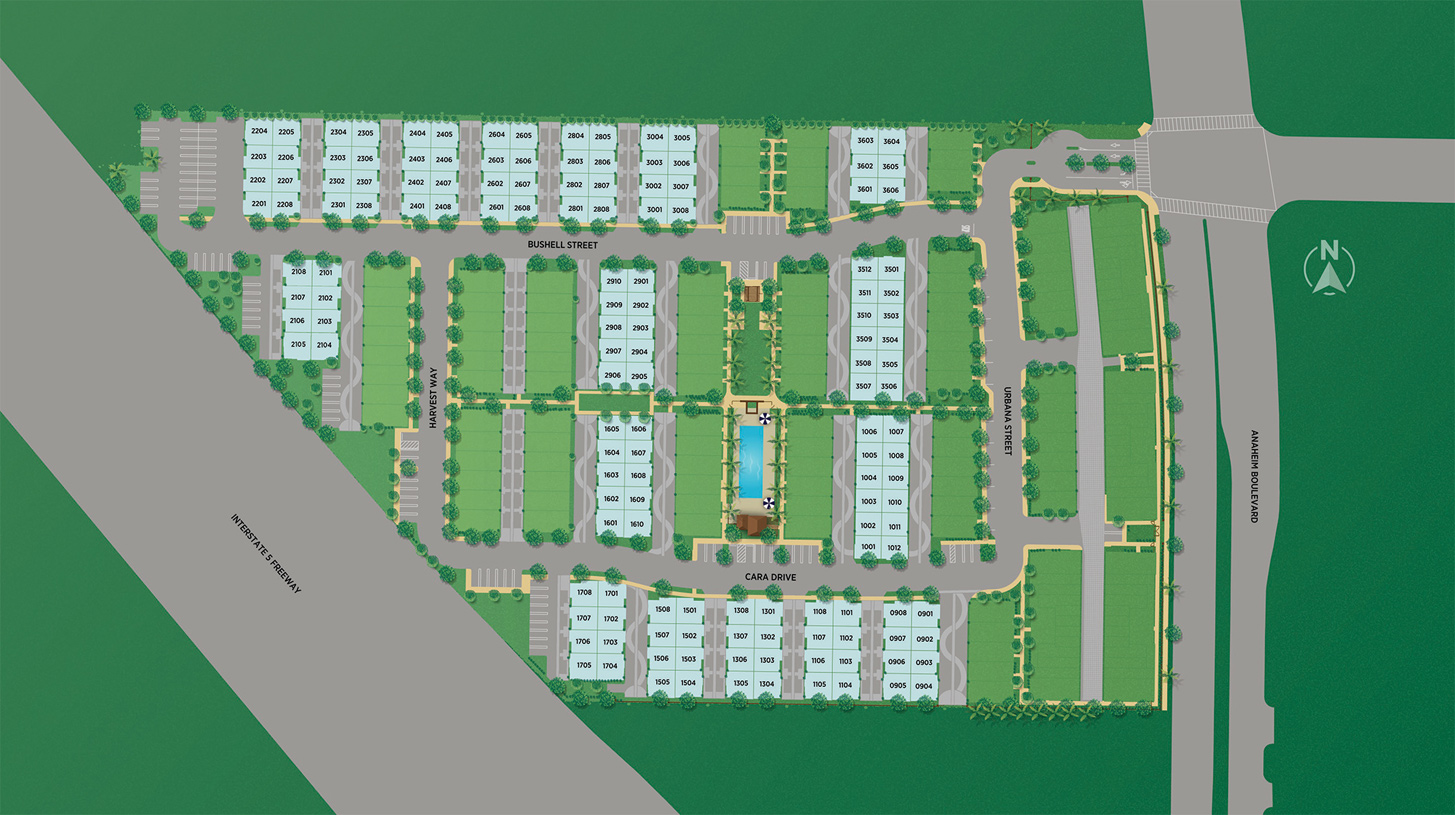 100 West - The Towns Collection Site Plan