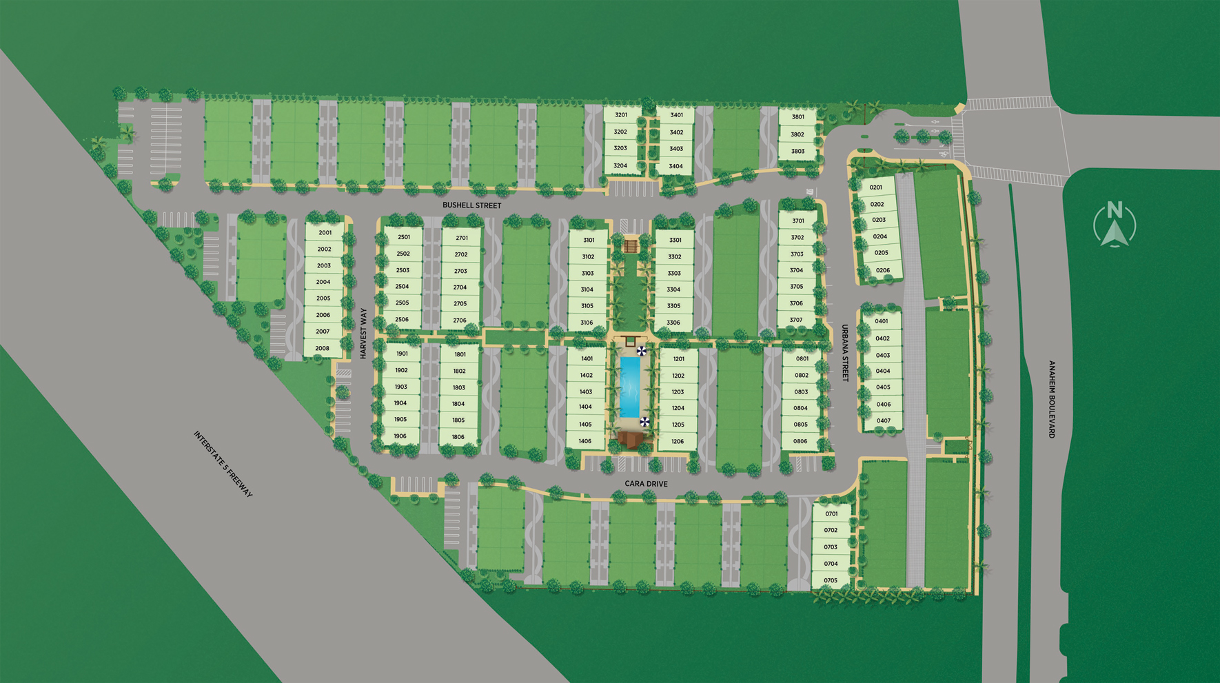 100 West - The Terraces Collection Site Plan