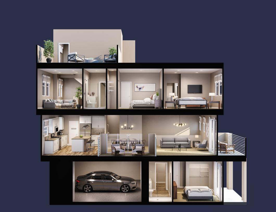 Terraces Plan 2,virtually designed for demonstration