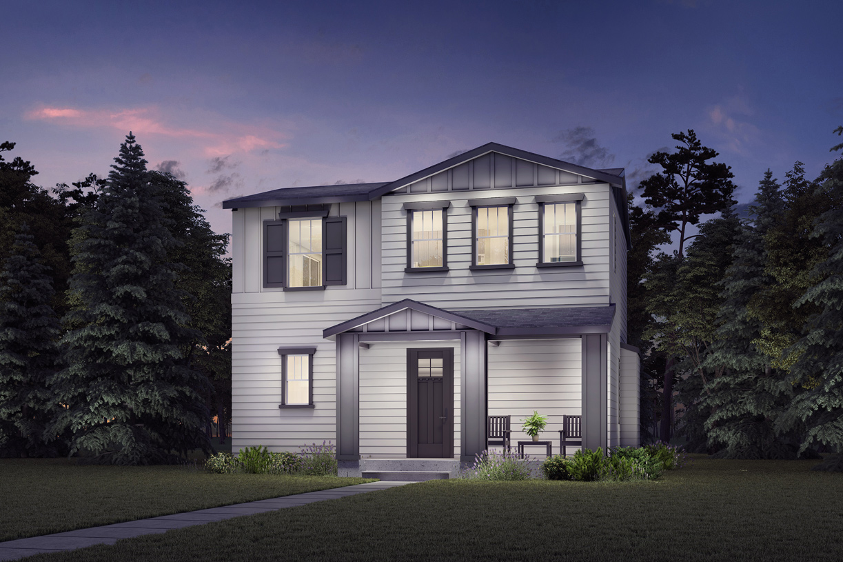 The Discovery Craftsman illustrates the garage access located on the rear of the home creating a beautiful street-scene
