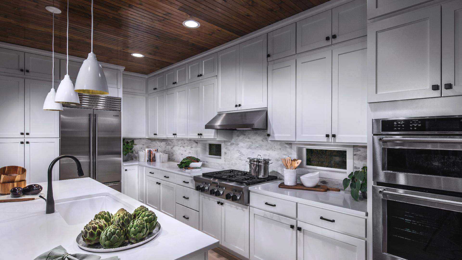 Well designed kitchen offers plenty of cabinet space