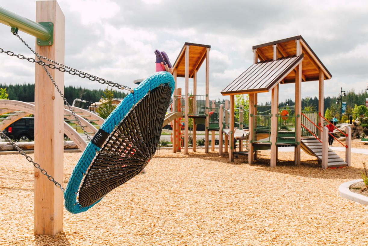 Neighborhood parks are throughout theTen Trails community