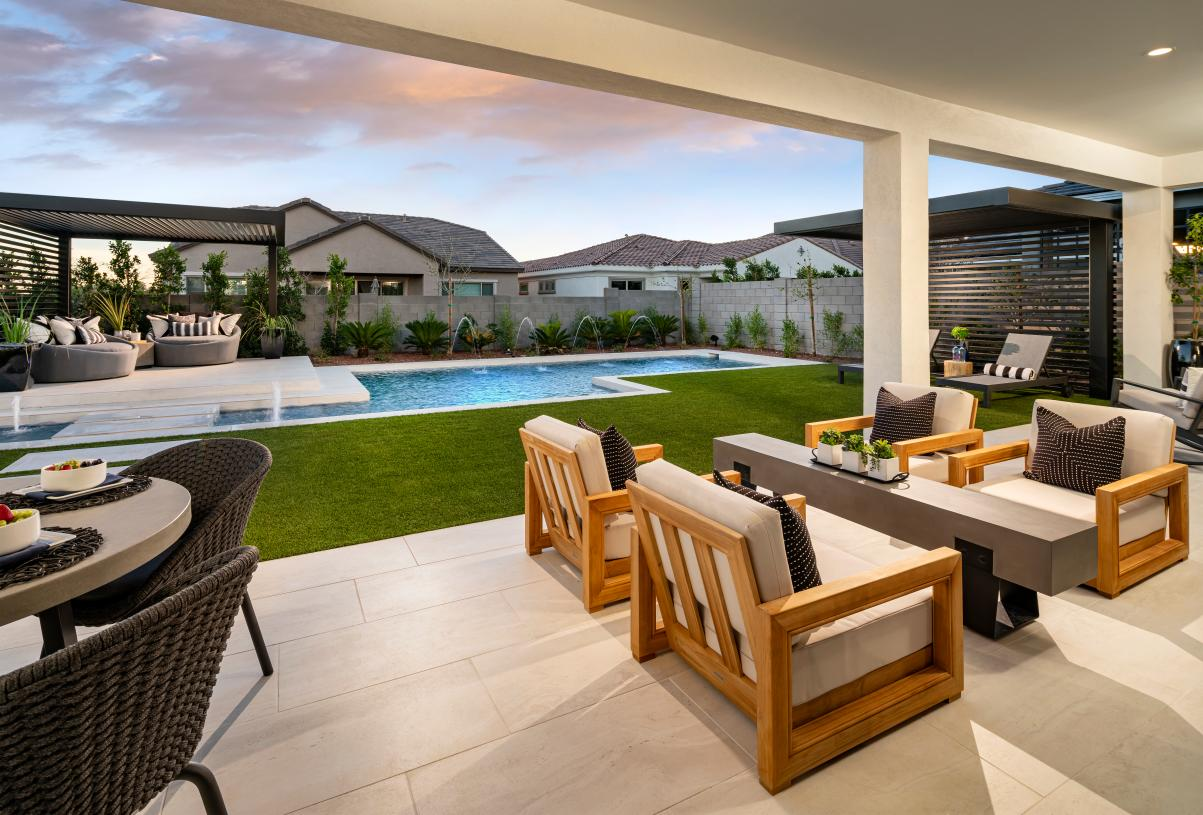 Large covered patios provide ideal outdoor living spaces