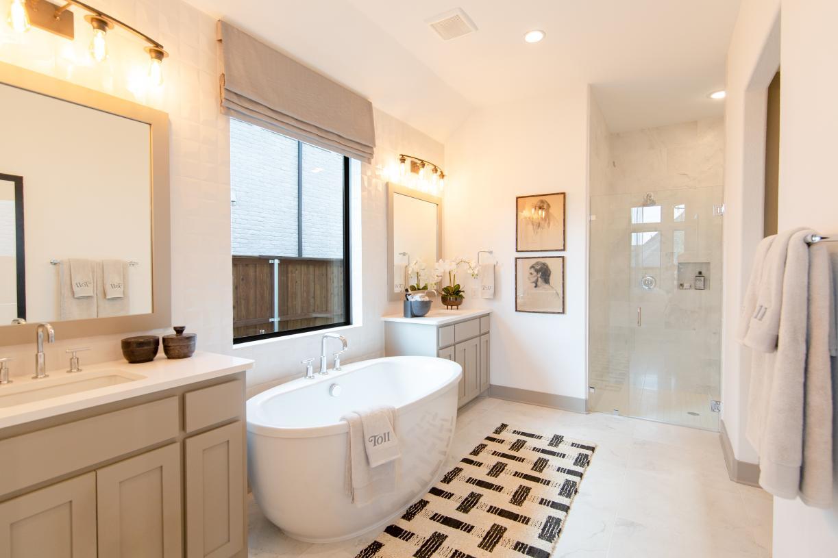 Stunning spa-like primary bath