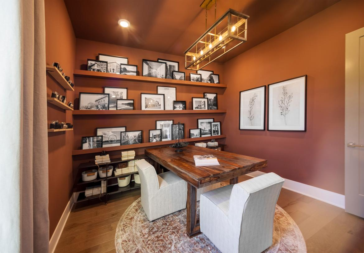 First-floor secluded private study