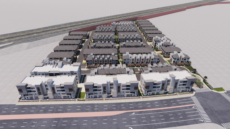 100 West - The Lofts Collection 3D Site Plan