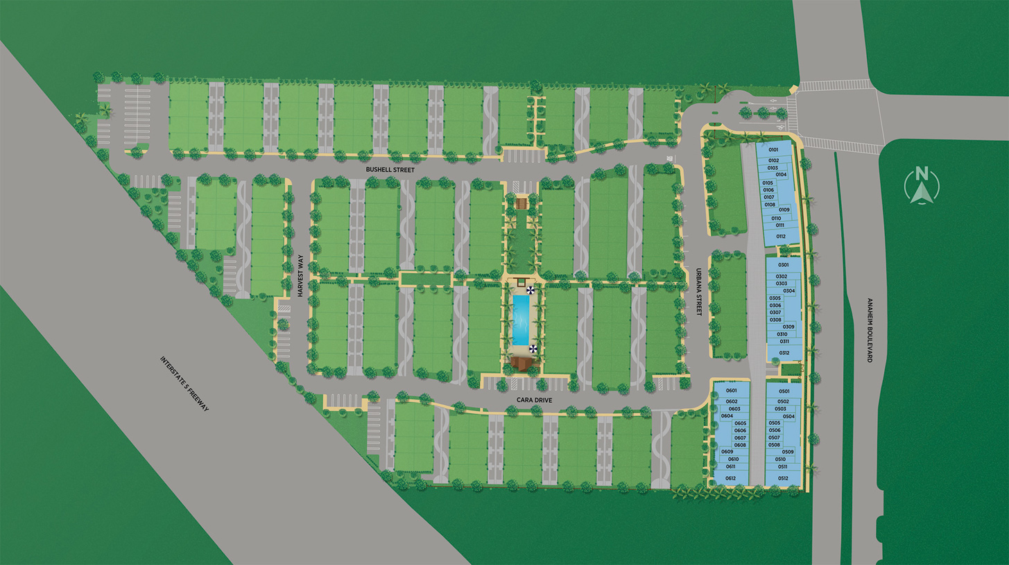 100 West - The Lofts Collection Site Plan
