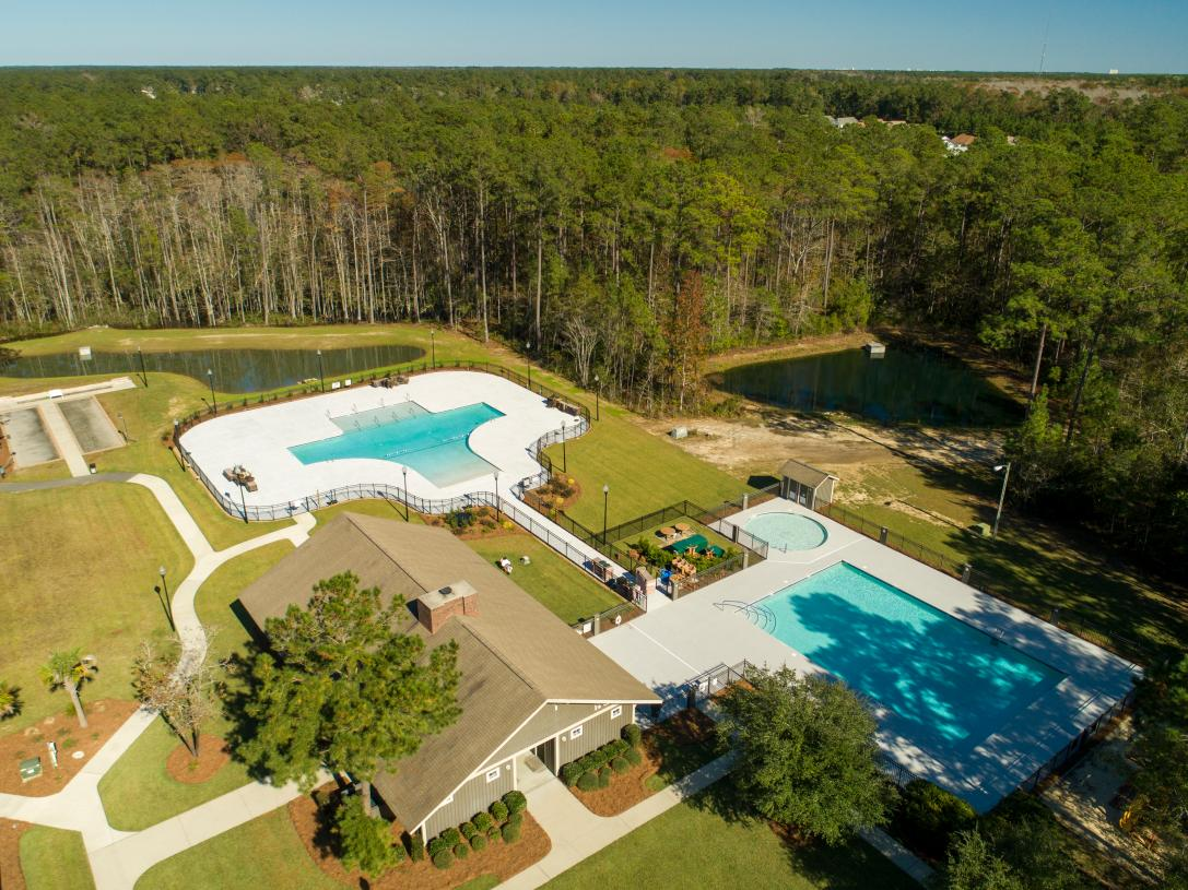 Community center and pools