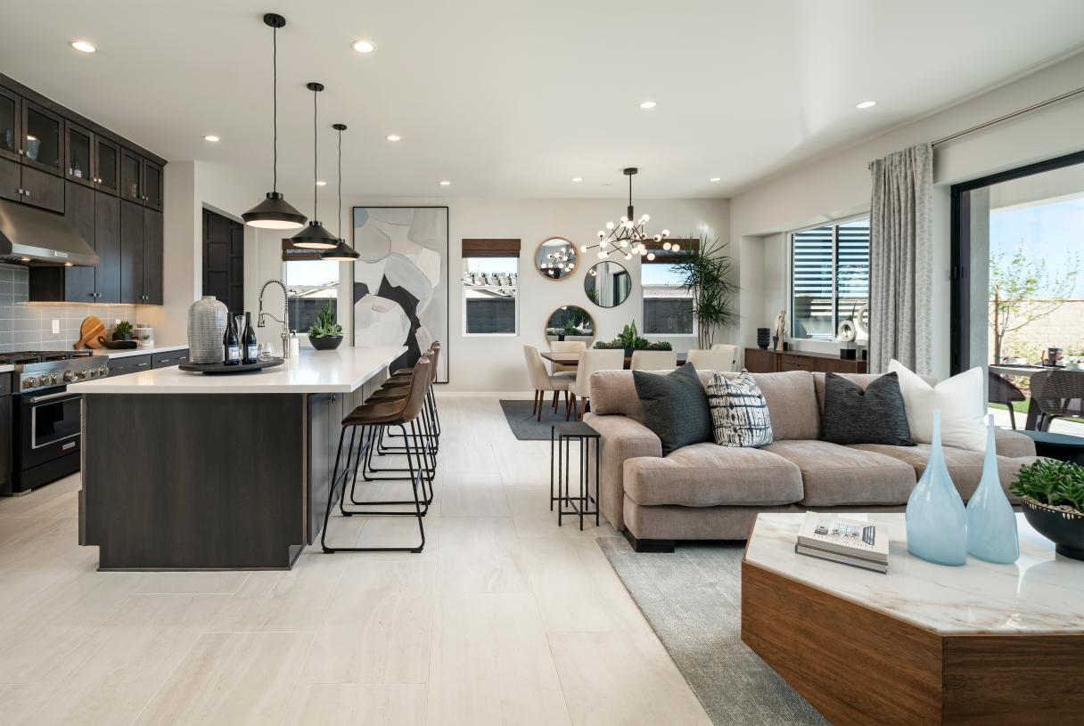 Desirable open floor plan ideal for entertaining