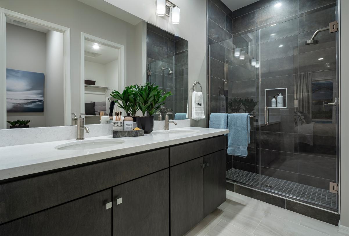 Primary bathroom features luxe walk-in shower
