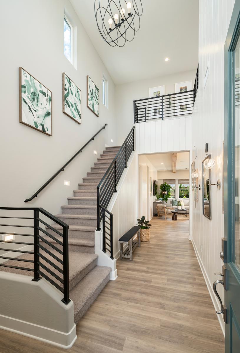 Impressive two-story foyer