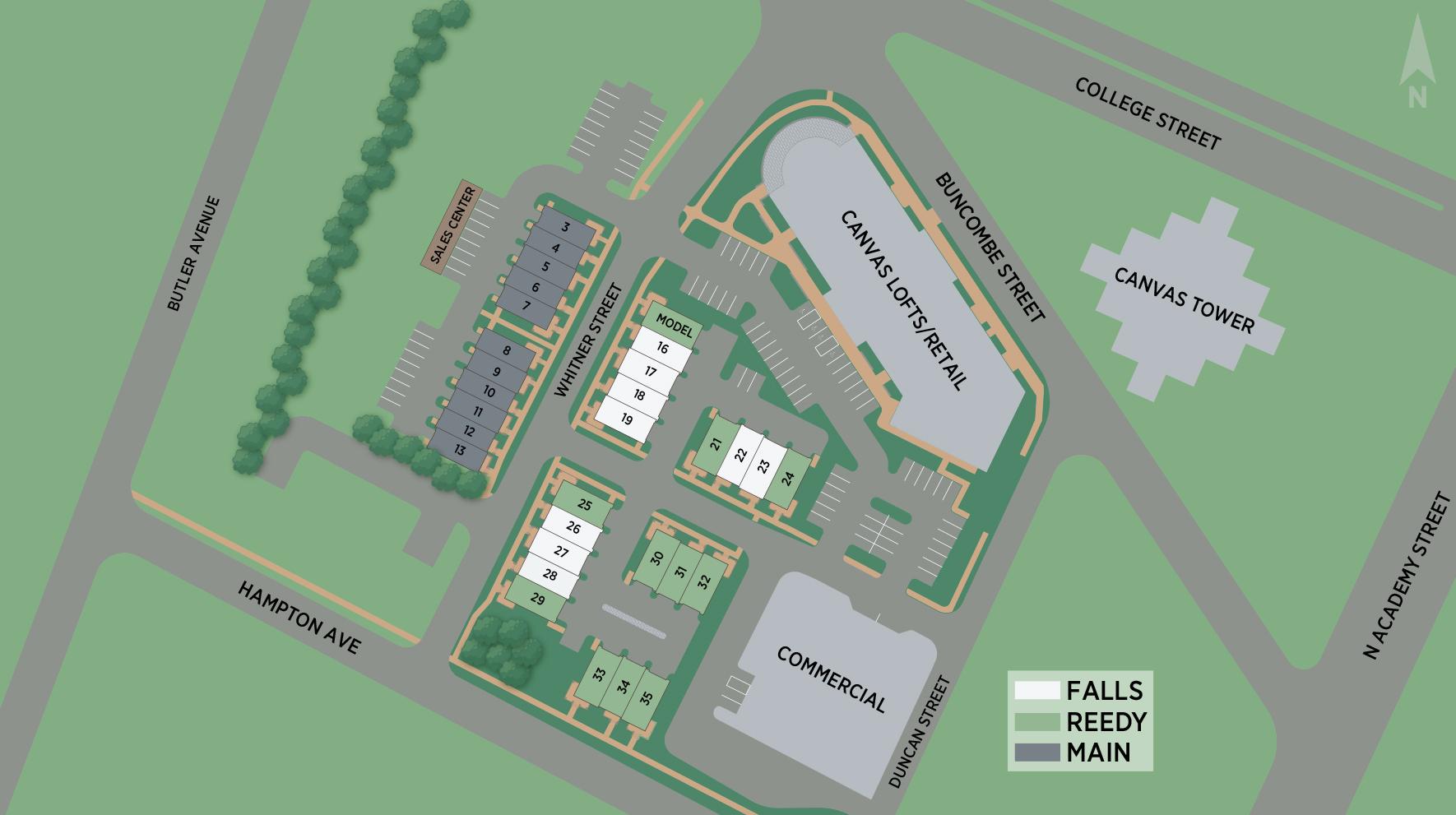Canvas Townes Site Plan