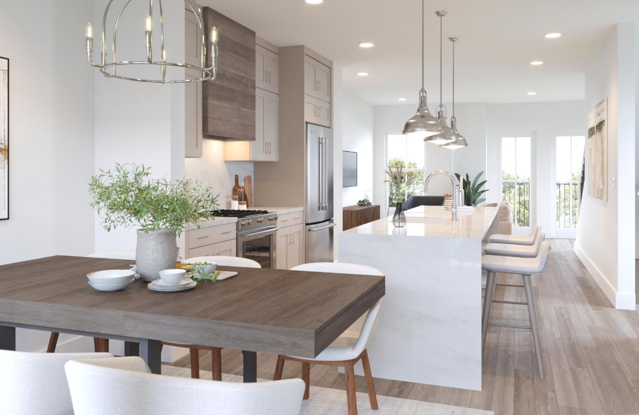 Gourmet kitchen with space for entertaining