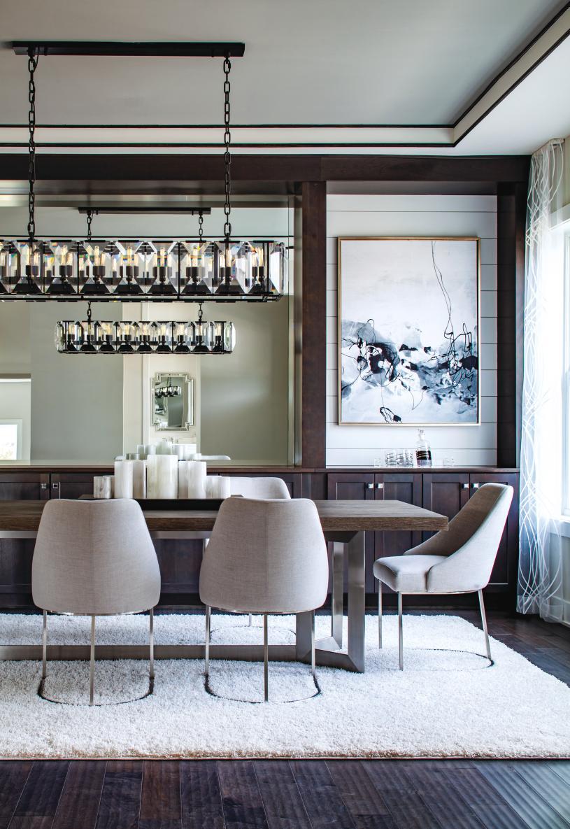 Elegant formal dining rooms