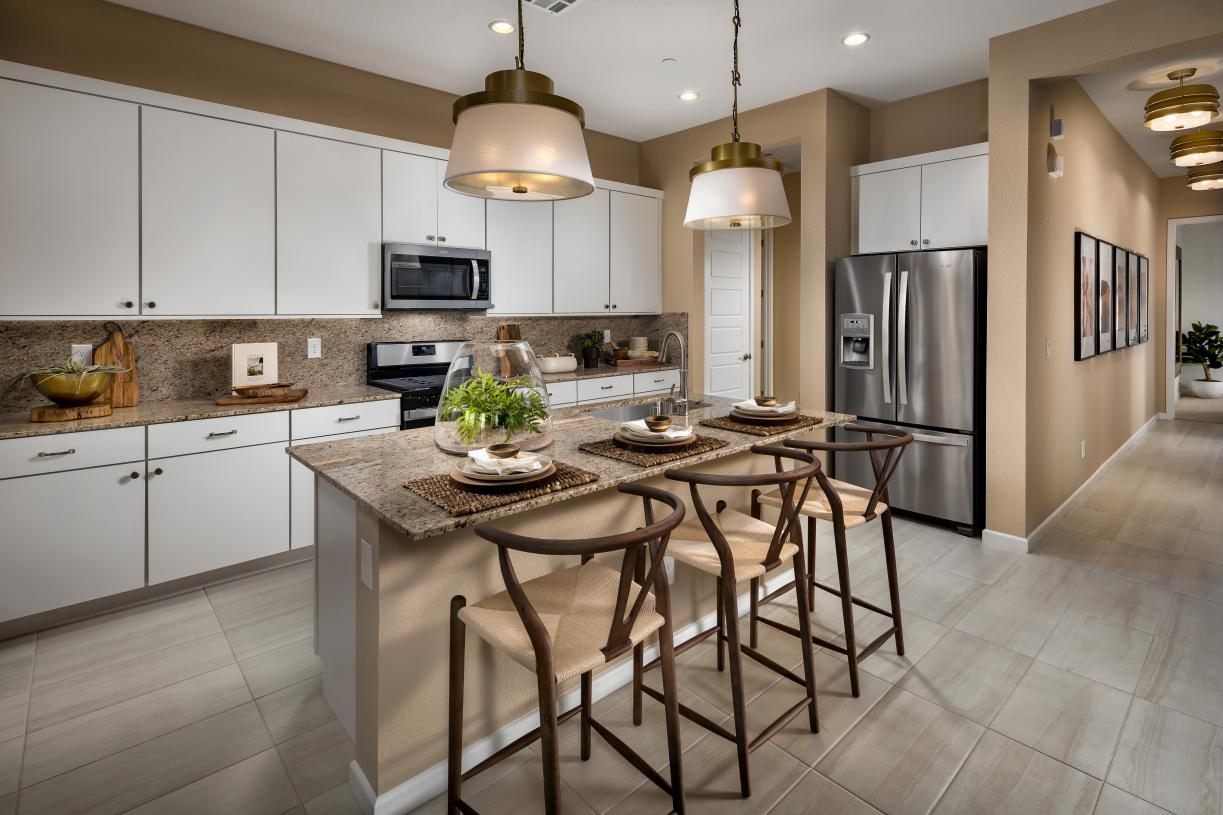 Beautiful kitchens with ample cabinet and counter space