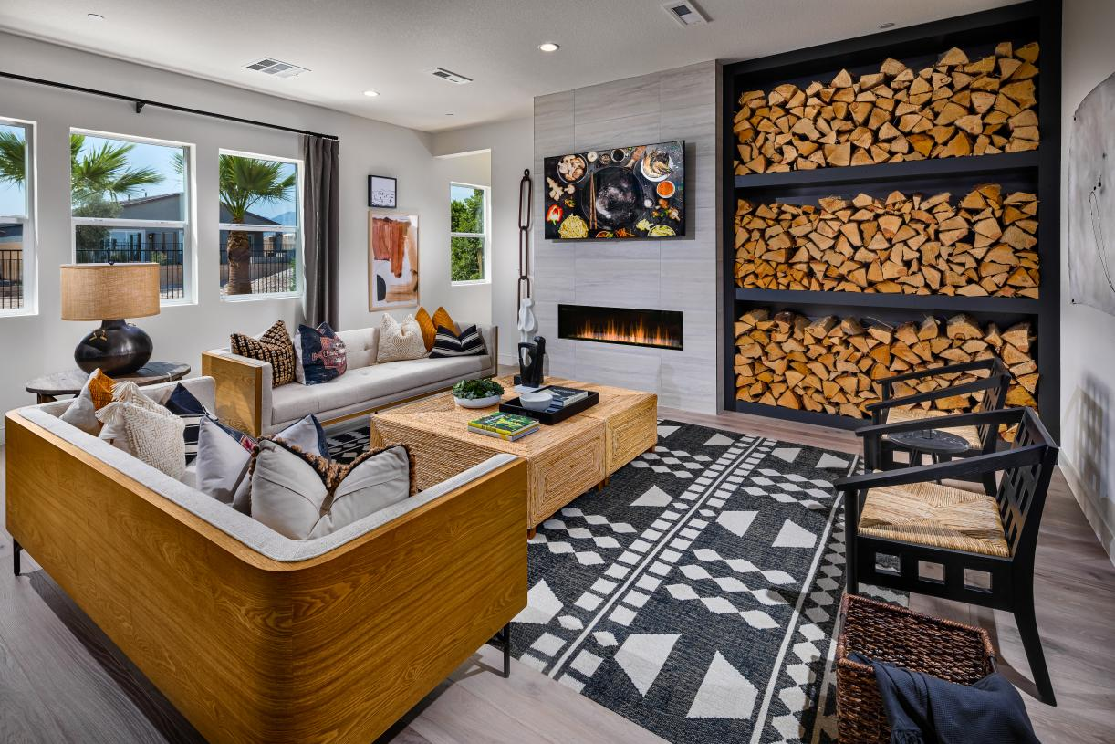 Expansive great room with optional fireplace