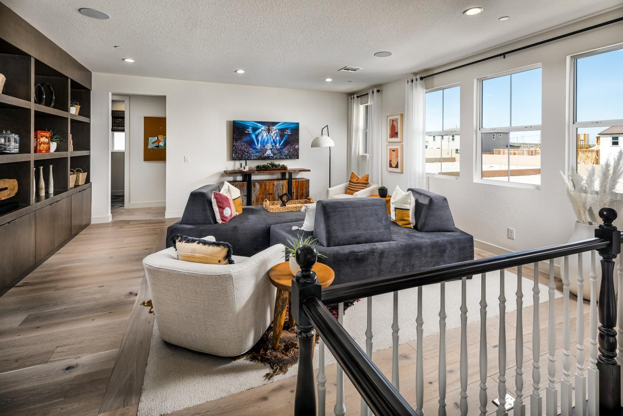 Generous loft provides versatile living and entertaining options