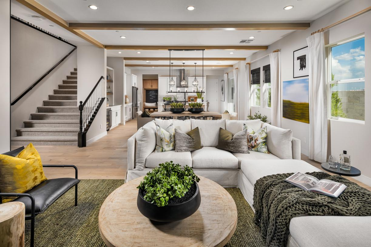 Open-concept living is an entertainer's dream