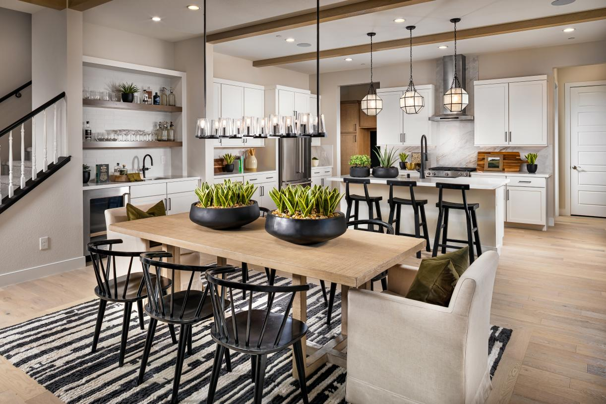 Well-appointed kitchen and casual dining area