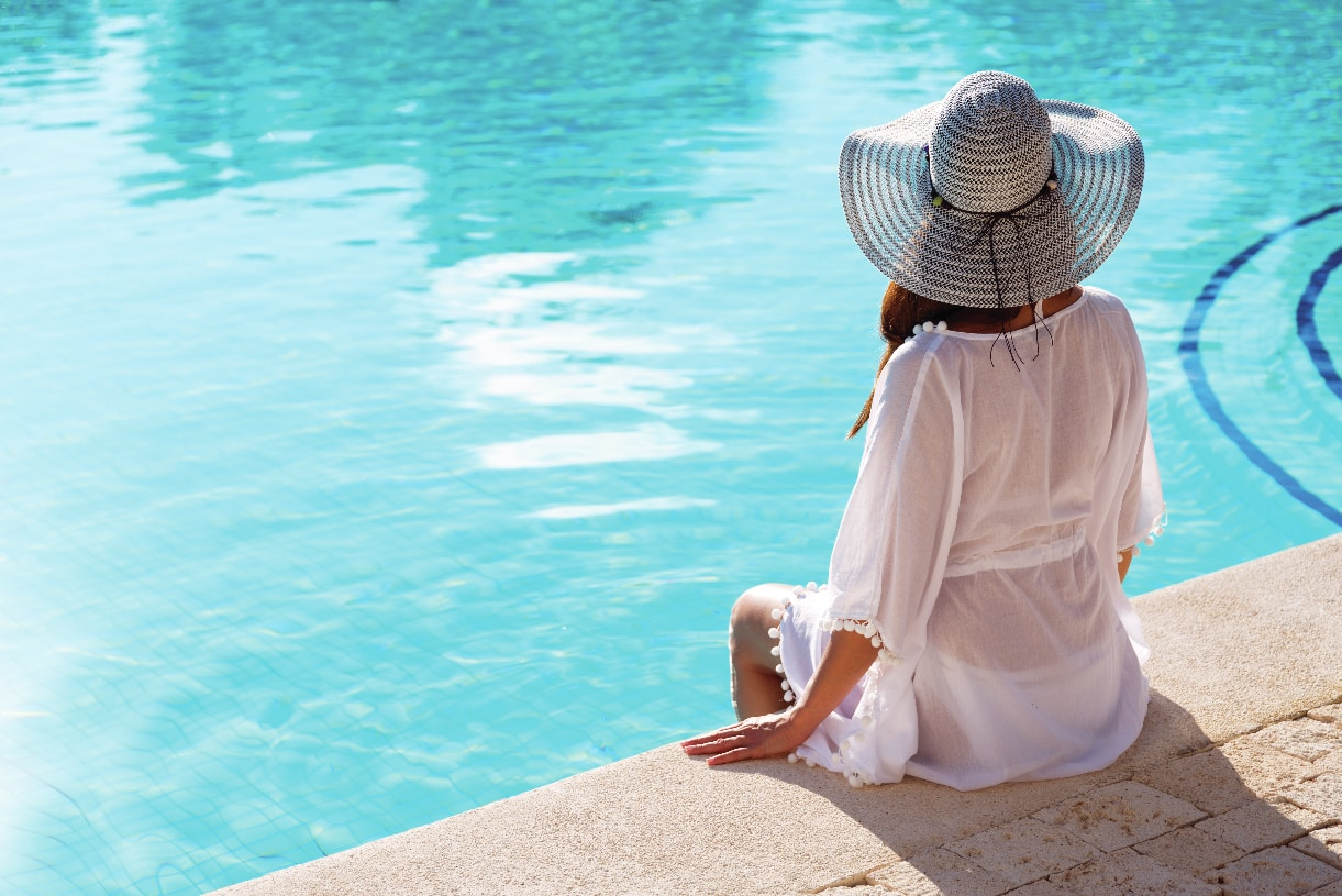 Relax poolside at the community pool
