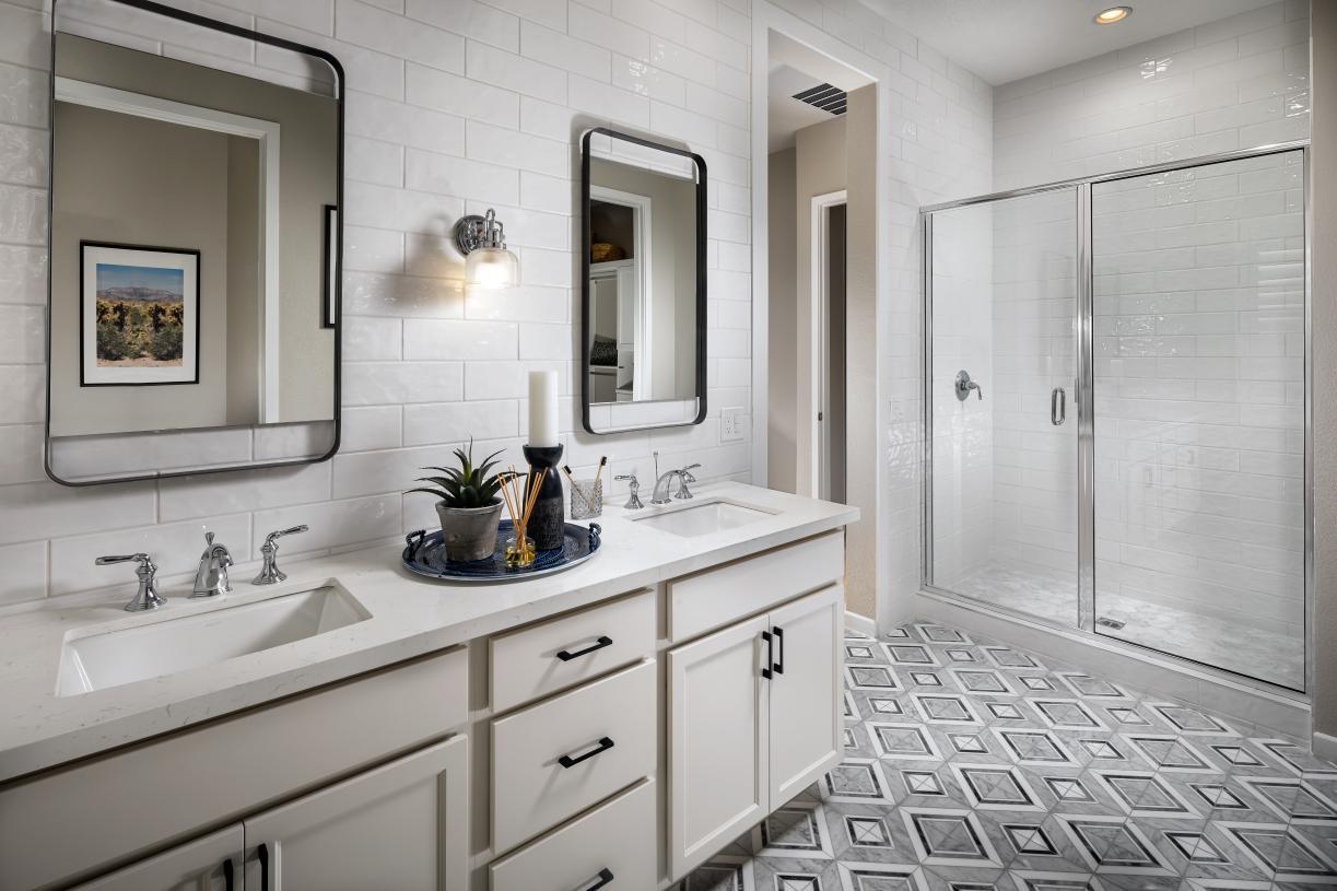 Luxe primary bathrooms