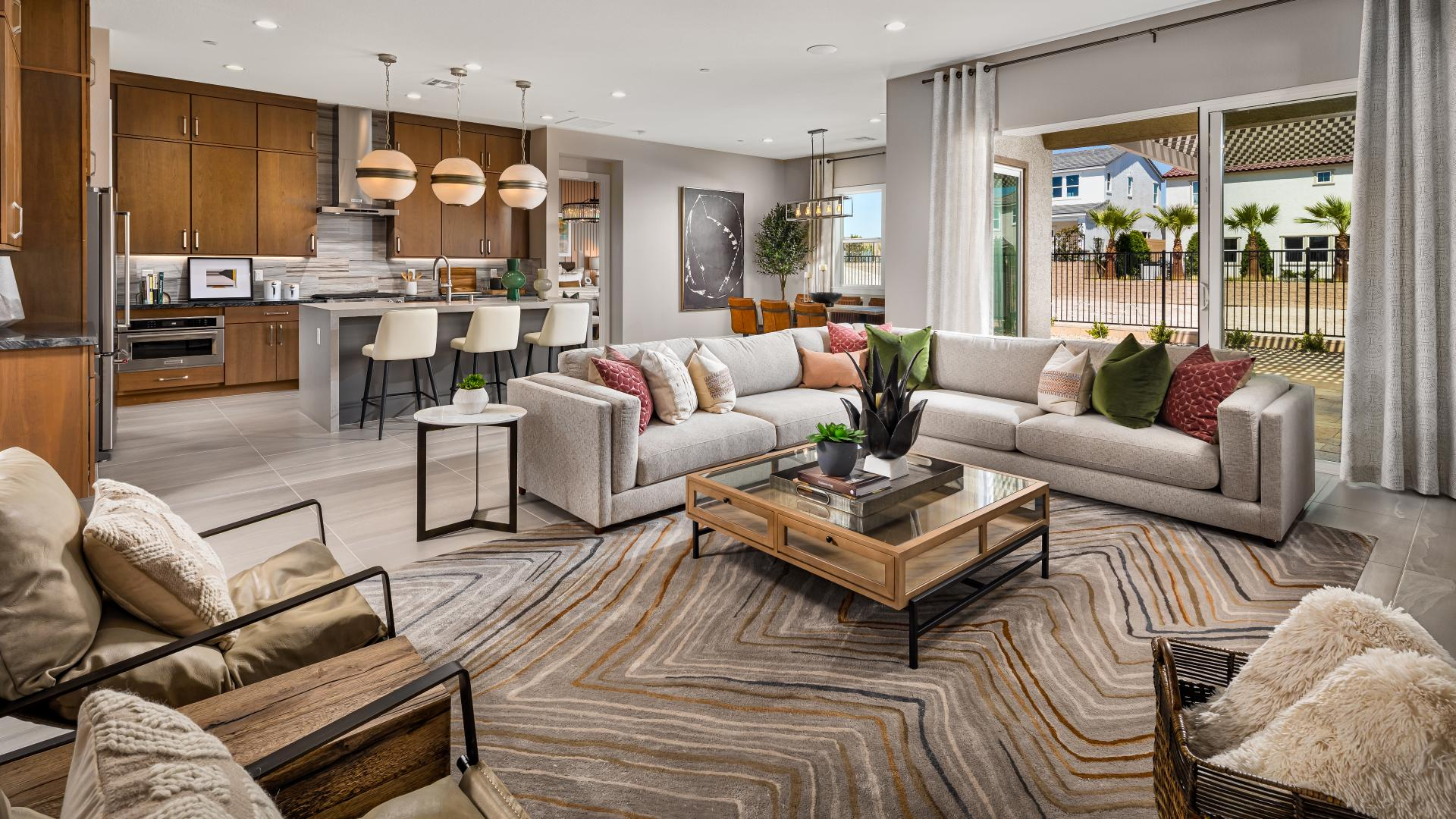 Open-concept great rooms