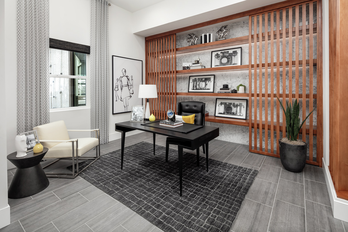 Versatile office is ideal for a work-from-home space