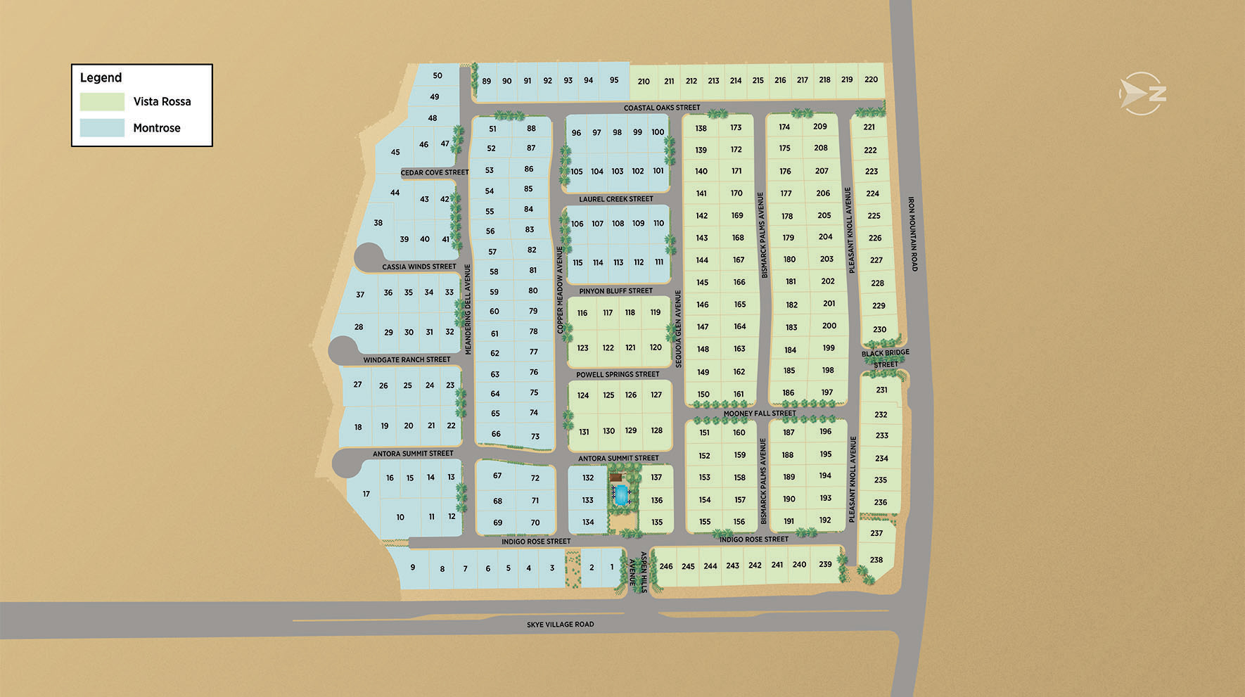 Toll Brothers at Skye Canyon Site Plan