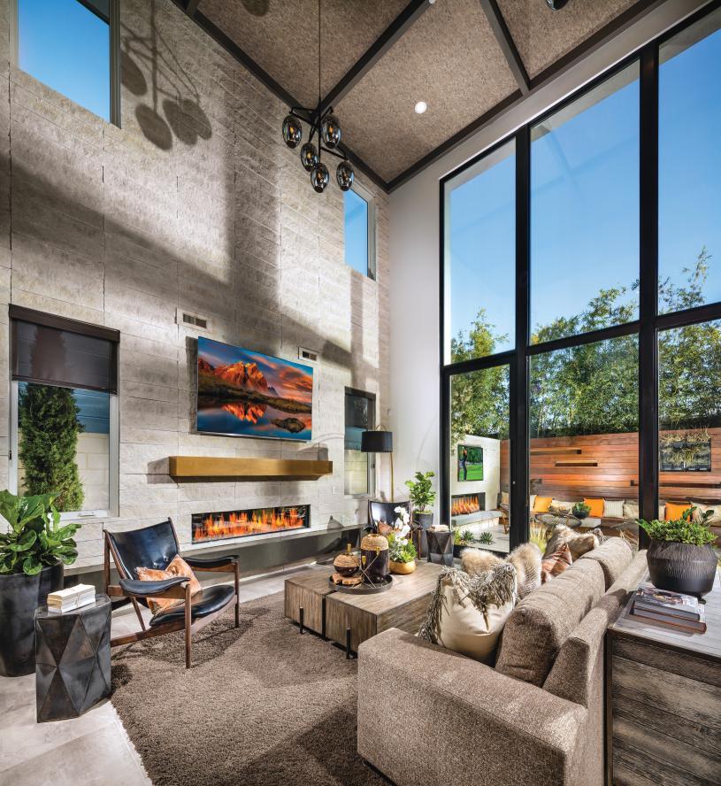 Spacious floor plans with high ceilings