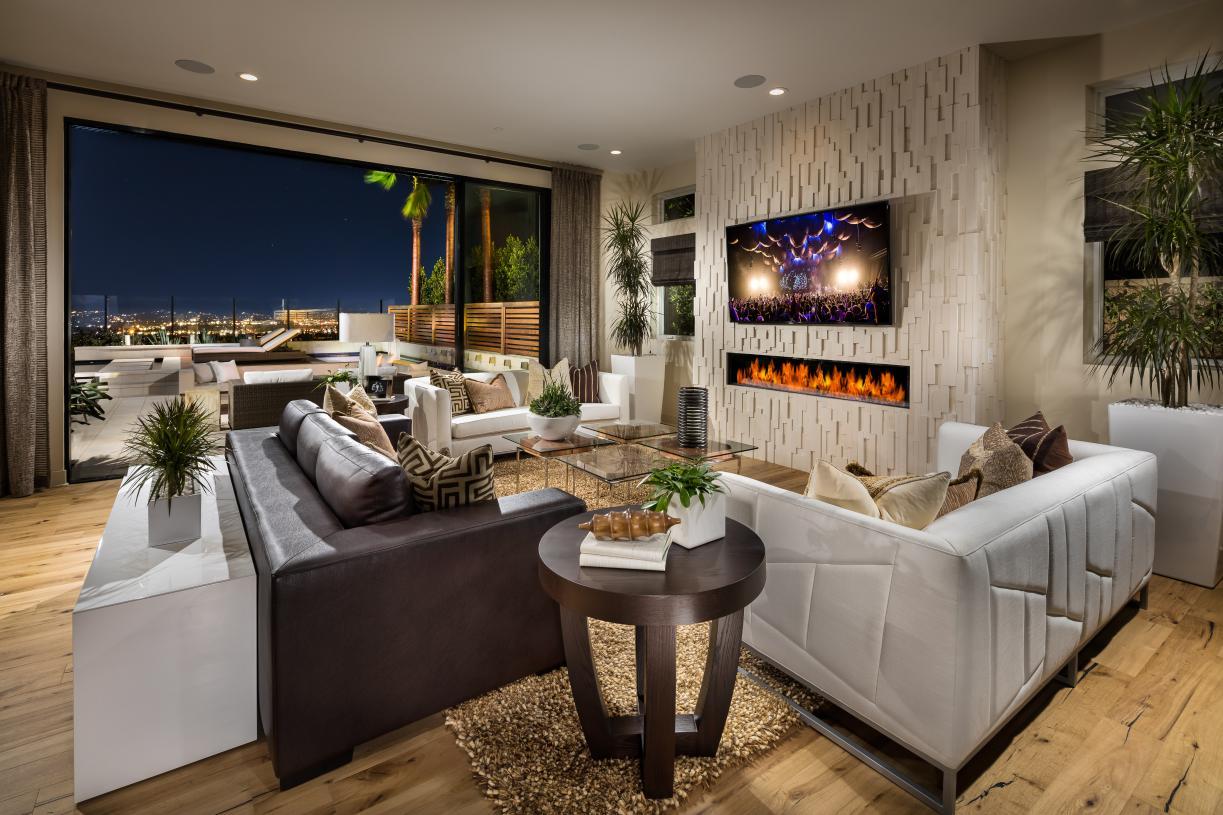 Living room with indoor/outdoor living options