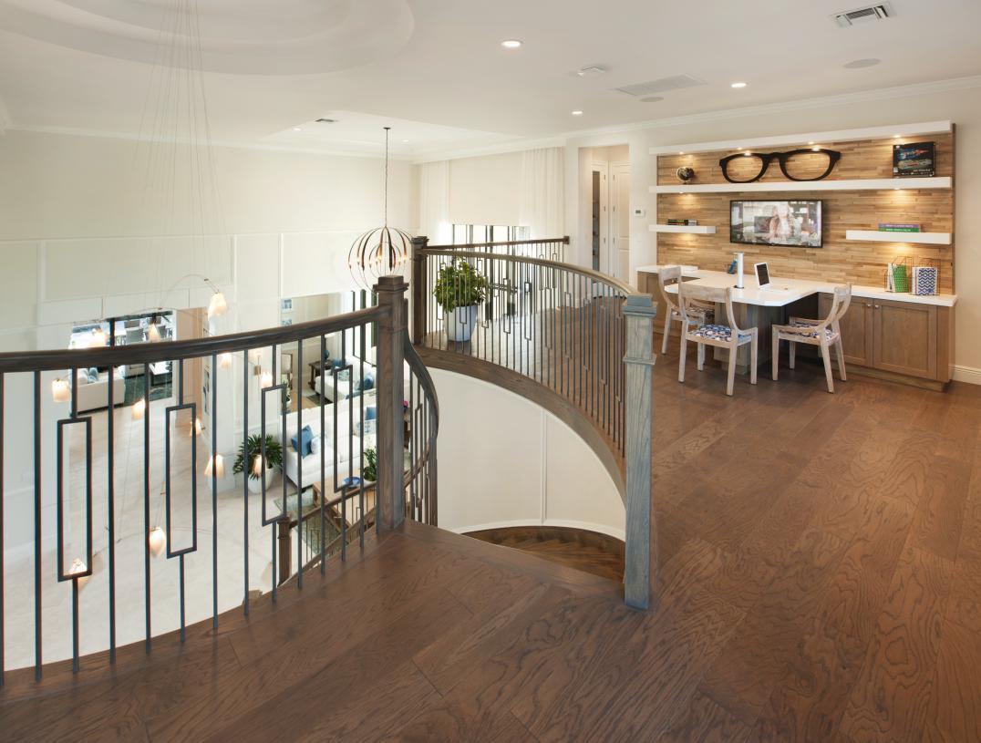 Second-floor lofts offer versatile living space