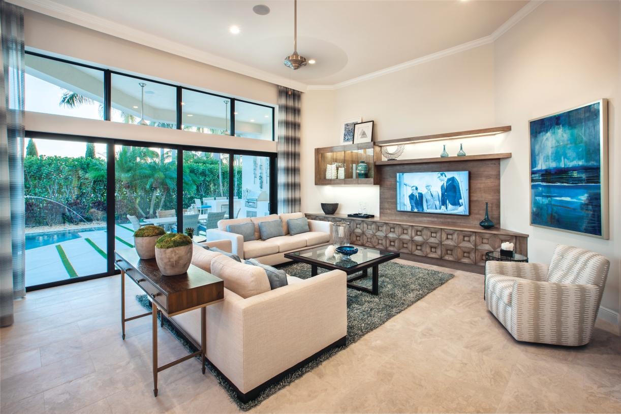 Spacious great rooms with abundant sunlight