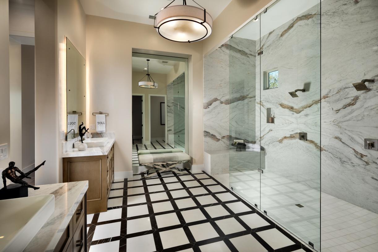 Luxurious primary bathrooms