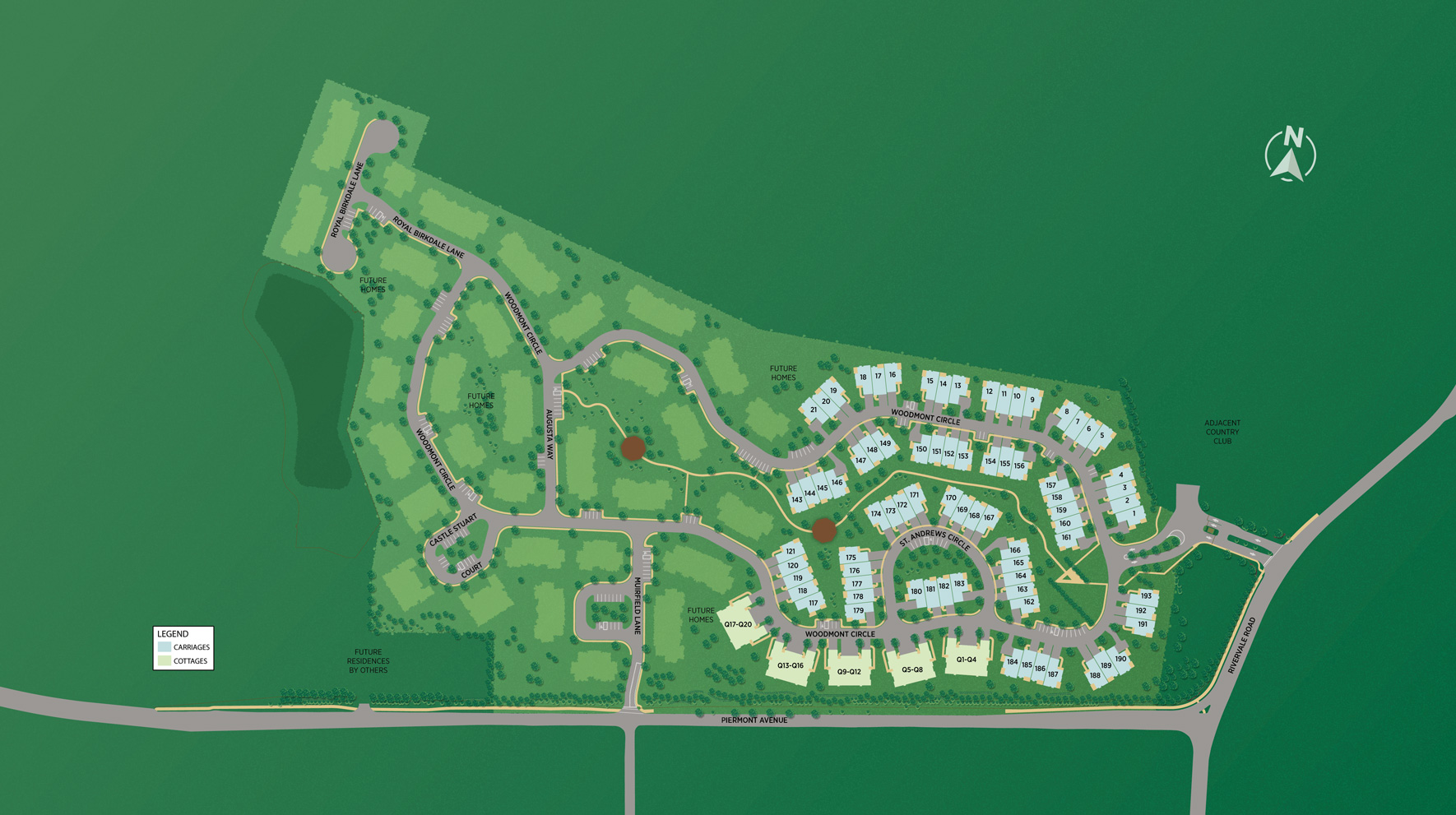The Fairways at Edgewood - Carriages Collection Site Plan