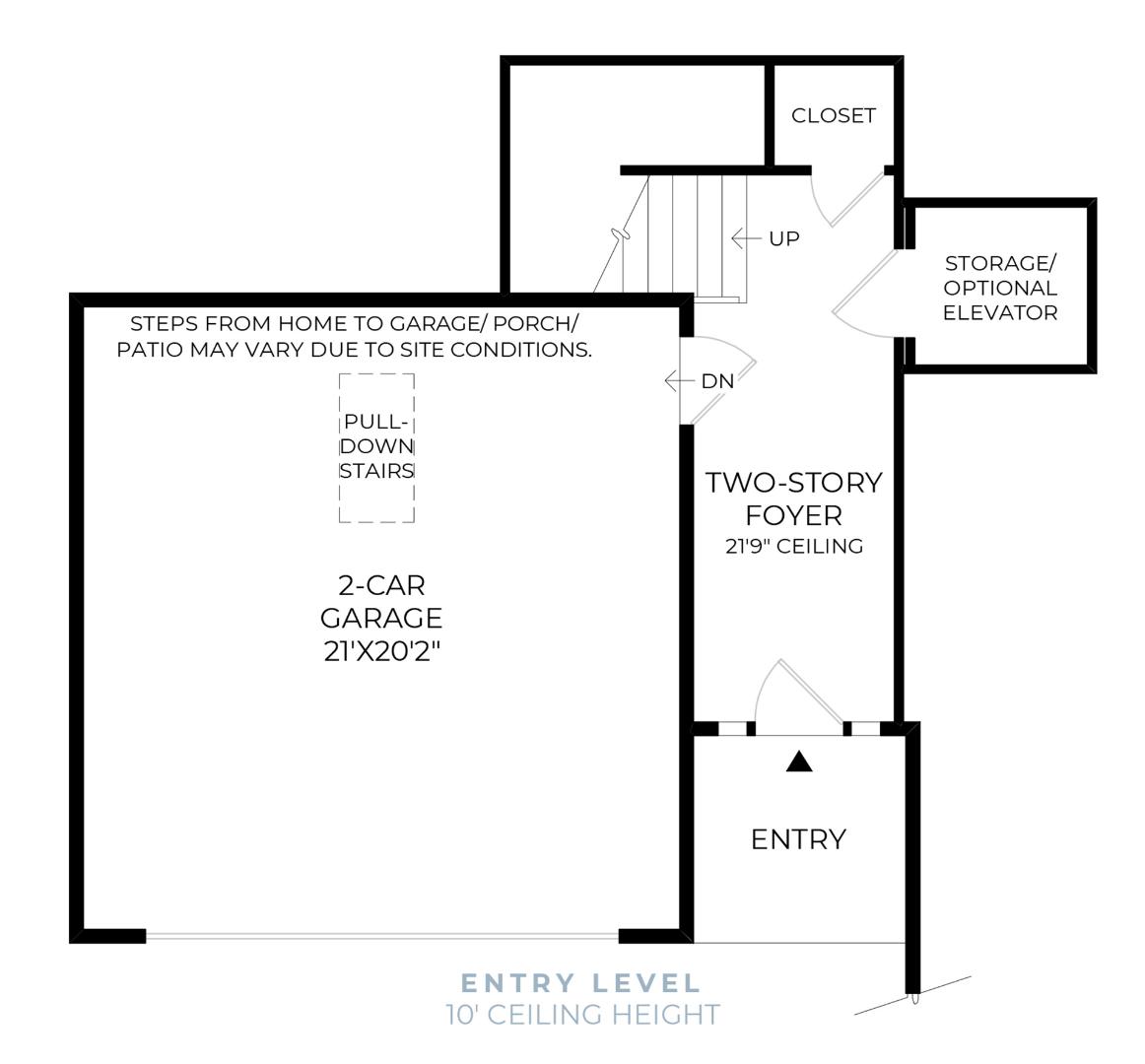 Entry Level Floor Plan