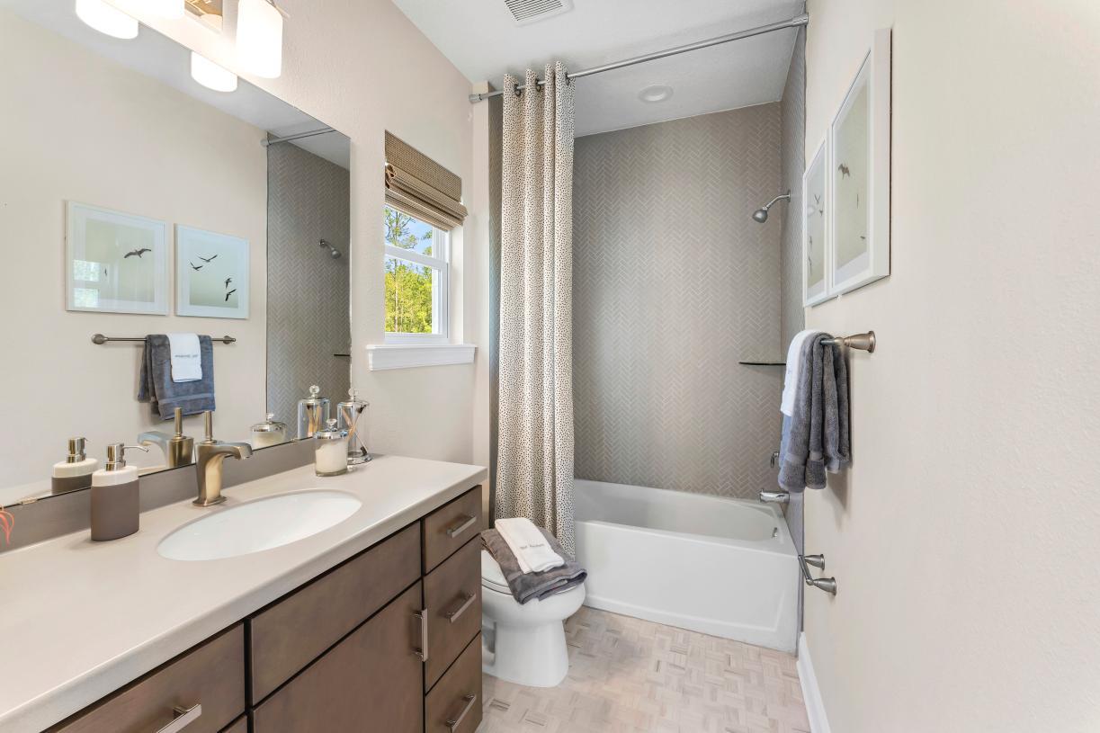 Expansive secondary bathroom