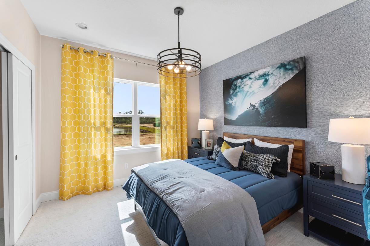 Secondary bedroom with natural light