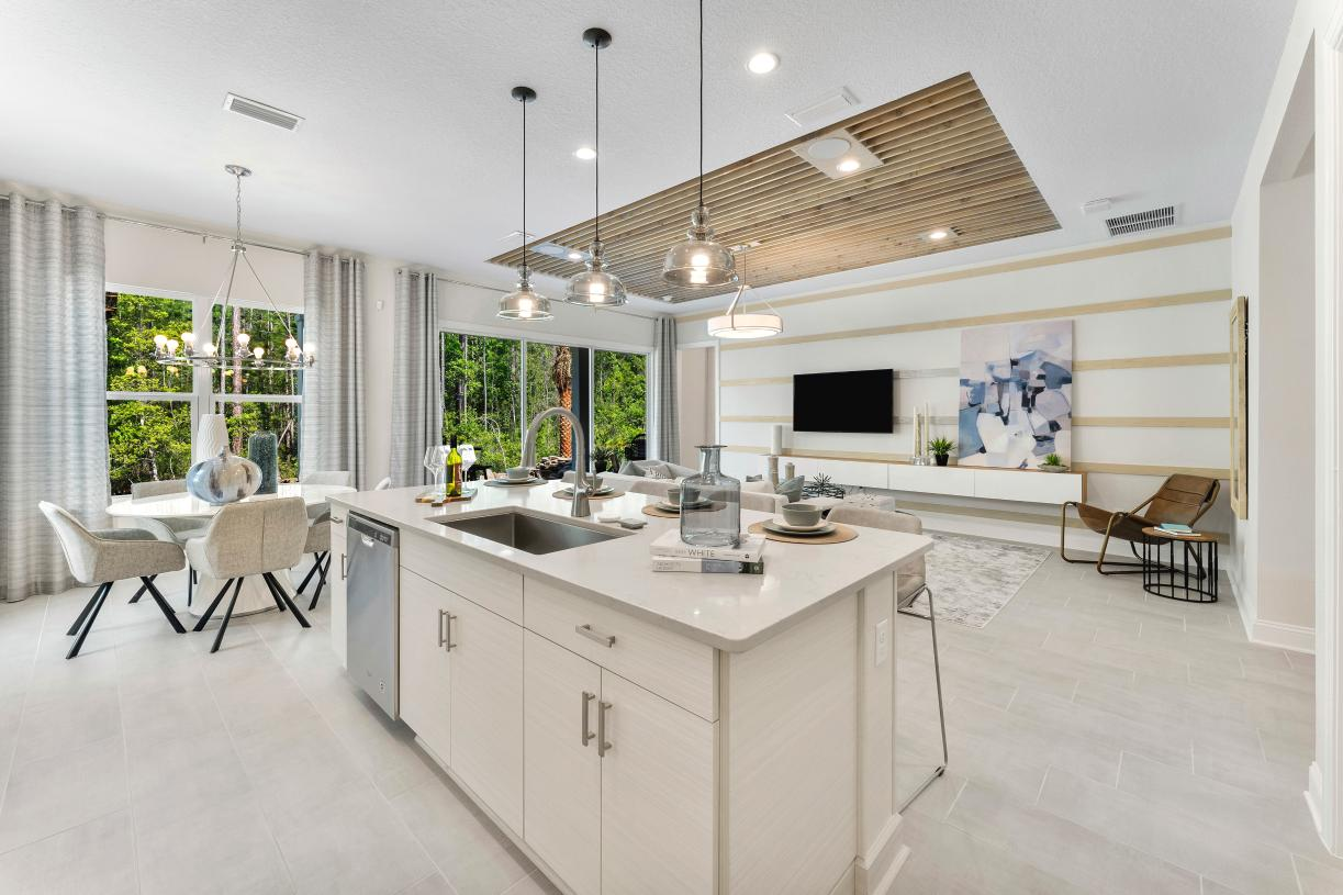 Open living spaces with abundant natural light