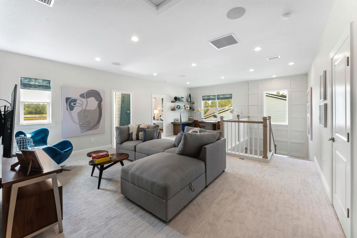 Expansive flex rooms perfect for entertaining